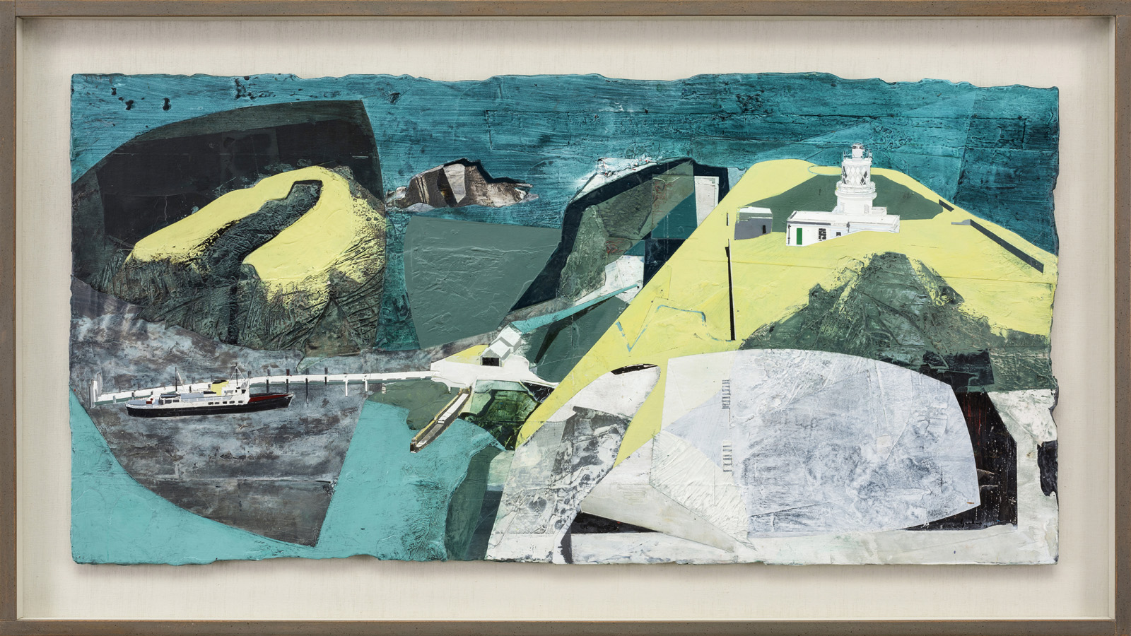 Turquoise Harbour, Lundy South Lighthouse by Jeremy Gardiner