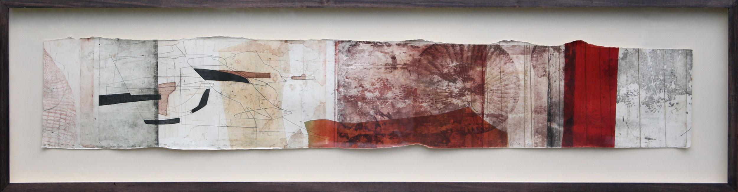 Golden Cap, Dorset, 2009, Intaglio Monoprint by Jeremy Gardiner