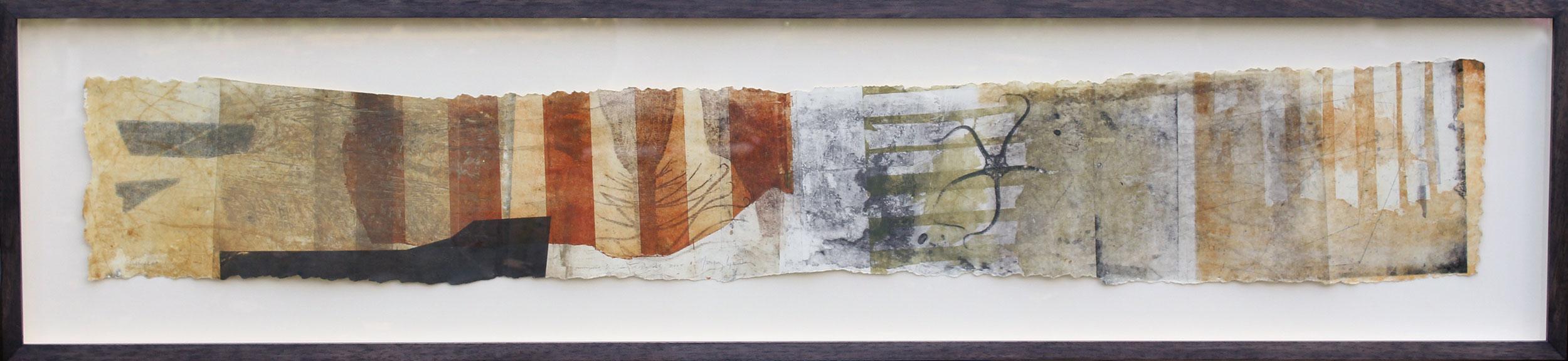 Golden Cap, Dorset, 2007, Intaglio Monoprint by Jeremy Gardiner