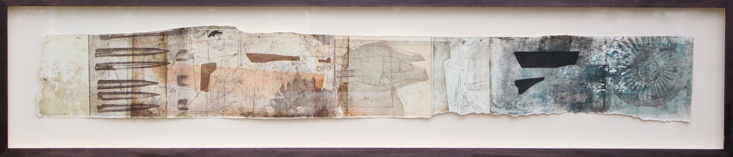 Swyre Head, Dorset, Intaglio Monoprint by Jeremy Gardiner