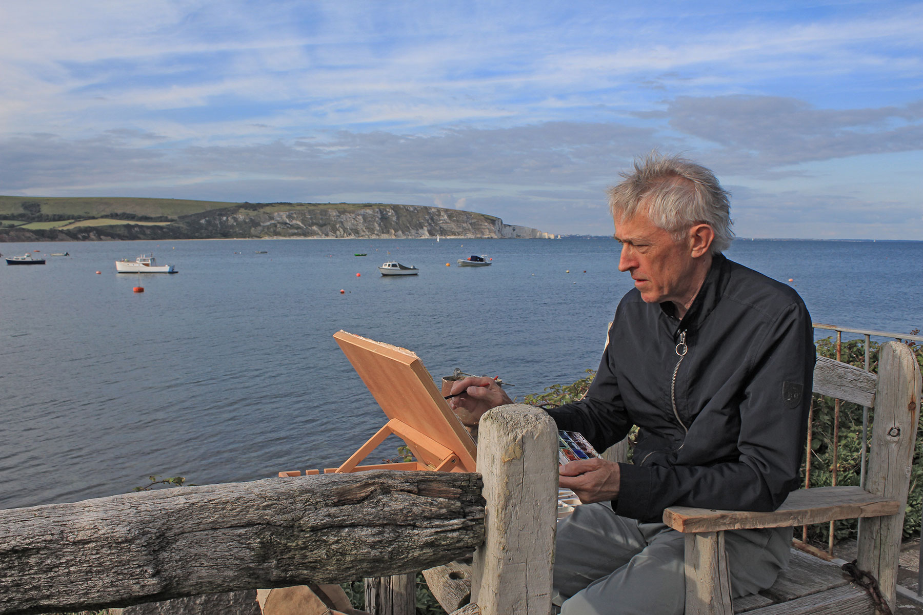 _Jeremy-painting-plein-air-Swanage-IMG_6262