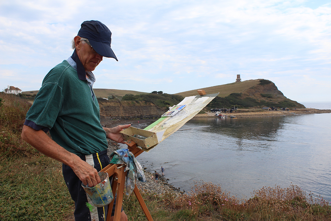 painting plein-air, Kimmeridge